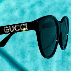 GUCCI cat eye Swarovski crystals sunglasses